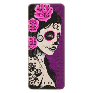 Day of the Dead Sugar Skull Girl – Purple Wood Cribbage Board