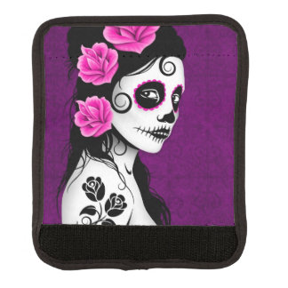 Day of the Dead Sugar Skull Girl Purple Handle Wrap