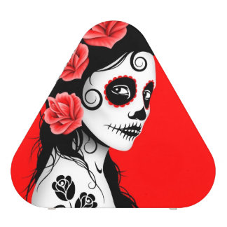 Day of the Dead Sugar Skull Girl – Red