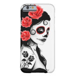 Day of the Dead Sugar Skull Girl – White iPhone 6 Case