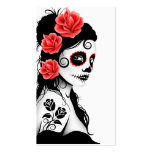 Day of the Dead Sugar Skull Girl - white Pack Of Standard Business Cards