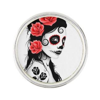 Day of the Dead Sugar Skull Girl White