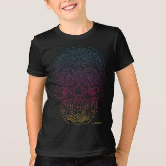 Day of the Dead Sugar Skull Halloween Art Rainbow T-Shirt