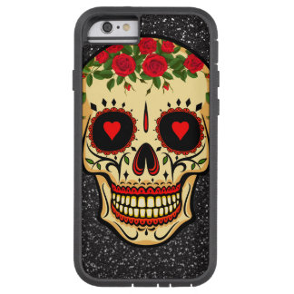 Day of the Dead Sugar Skull Hearts and Flowers Tough Xtreme iPhone 6 Case