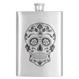 DAY OF THE DEAD SUGAR SKULL HIP FLASK
