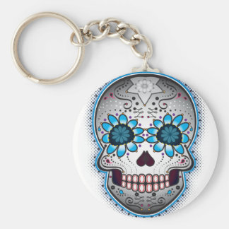 Day Of The Dead Sugar Skull Keychains