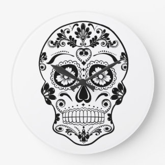 DAY OF THE DEAD SUGAR SKULL LARGE CLOCK