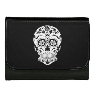DAY OF THE DEAD SUGAR SKULL LEATHER WALLETS