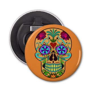 Day of the Dead Sugar Skull Magnet Bottle Opener