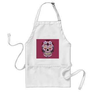 Day of the Dead Sugar Skull Pink Apron