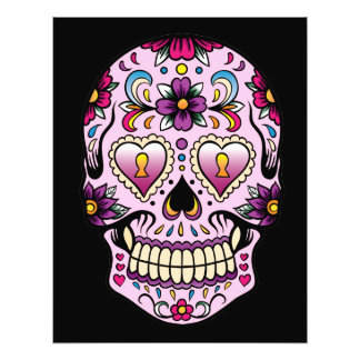 Day of the Dead Sugar Skull Pink Photo Art