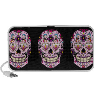 Day of the Dead Sugar Skull Pink Portable Speakers
