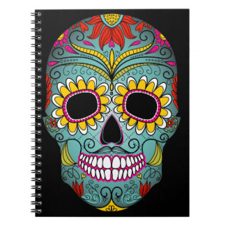 Day of the Dead Sugar Skull Spiral Notebook