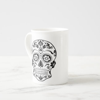DAY OF THE DEAD SUGAR SKULL TEA CUP