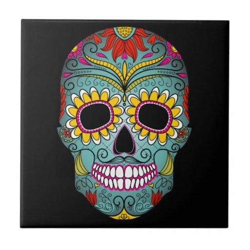 Day of the Dead Sugar Skull Ceramic Tiles