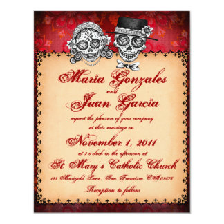 Day of the Dead Sugar Skull Wedding Invitations