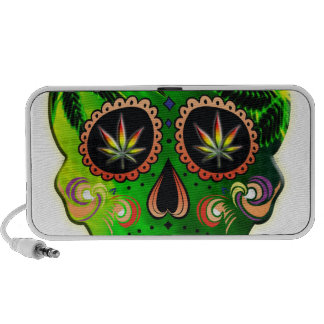 Day of the Dead Sugar Skull weed Shirt Speakers