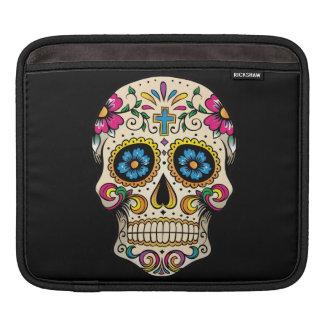 Day of the Dead Sugar Skull with Cross iPad Sleeve