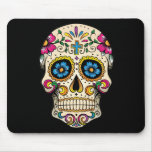 Day of the Dead Sugar Skull with Cross Mouse Pad