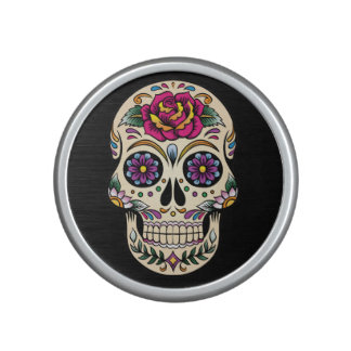 Day of the Dead Sugar Skull with Rose Speaker