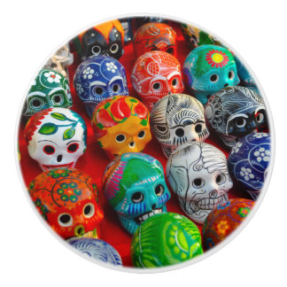 Day of the Dead Sugar Skulls Ceramic Knob