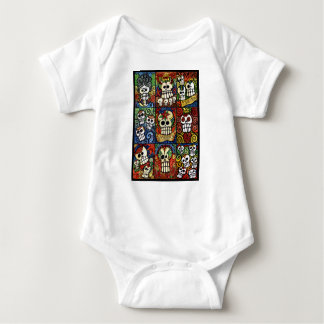 Day of the Dead Sugar Skulls Collection Baby Bodysuit