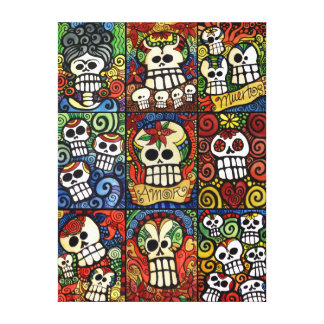 Day of the Dead Sugar Skulls Collection Canvas Print