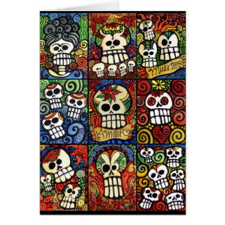 Day of the Dead Sugar Skulls Collection Card