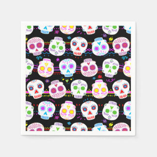 Day of the Dead Sugar Skulls Disposable Napkin