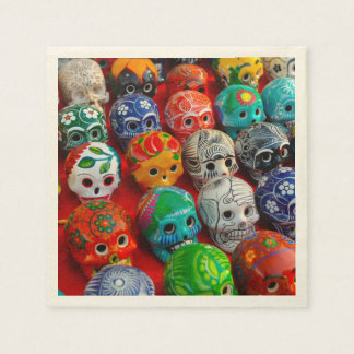 Day of the Dead Sugar Skulls Disposable Napkins