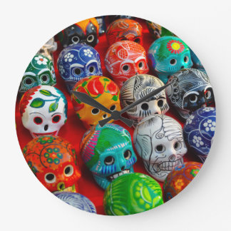 Day of the Dead Sugar Skulls Large Clock