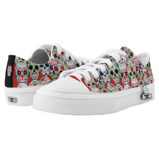 Day of the Dead Sugar Skulls Low Tops