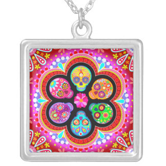 Day of the Dead Sugar Skulls Necklace