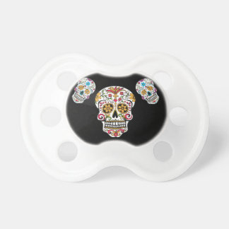 Day of the Dead Sugar Skulls Pacifier