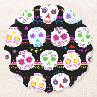 Day of the Dead Sugar Skulls Paper Coaster