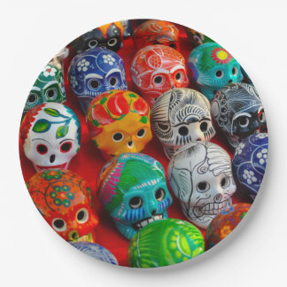 Day of the Dead Sugar Skulls Paper Plate