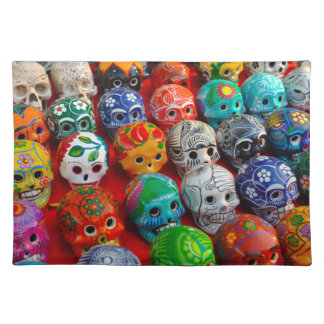 Day of the Dead Sugar Skulls Placemat