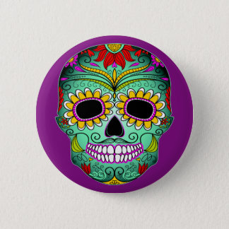 Day Of The Dead Tattoo Skull 6 Cm Round Badge