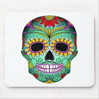 Day Of The Dead Tattoo Skull Mouse Pad