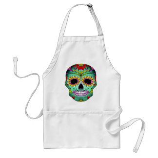 Day Of The Dead Tattoo Skull Standard Apron