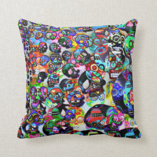 Day Of The Dead Throw Pillow Cushion