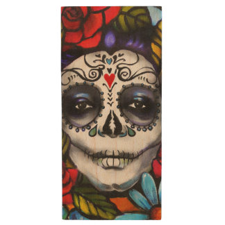 Day of the Dead Wood USB Flash Drive