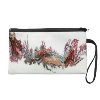 Day of the Dragon Abstract Art Wristlet