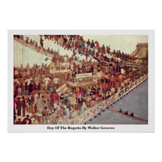 Day Of The Regatta By Walter Greaves Print
