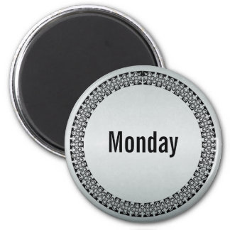 Day of the Week Monday 6 Cm Round Magnet