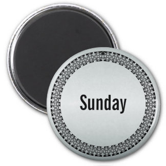 Day of the Week Sunday Magnet