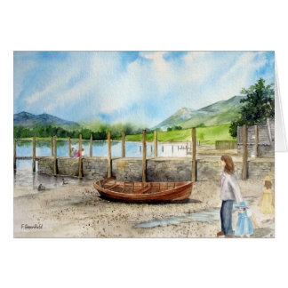 Day out at Derwent Water, Lake District, UK Card