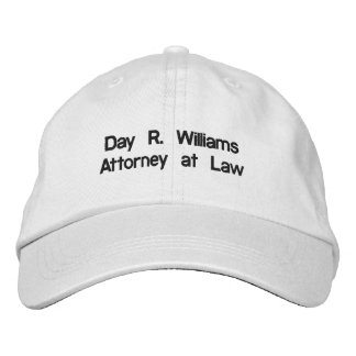 Day R. Williams, Attorney at Law Embroidered Baseball Caps