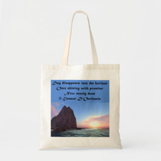 Day Recedes Poetry Budget Tote Bag