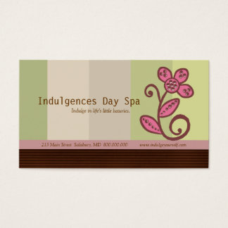 Day Spa Business Cards / Appointment Cards